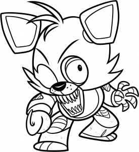 Simplicity image inside free printable five nights at freddy's coloring pages