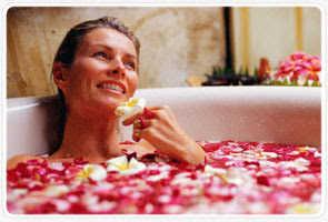 banho rosas vermelhas