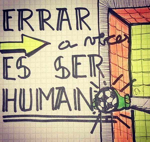 Errar, a veces, es ser humano!