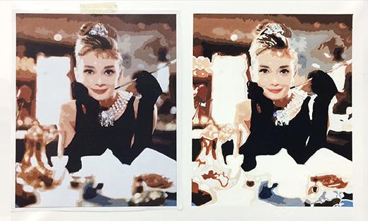 横浜美術学院の中学生教室 美術クラブ 写真から学ぶ!「アクリルガッシュで色面分割」1
