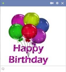 Happy Birthday Facebook Chat Code