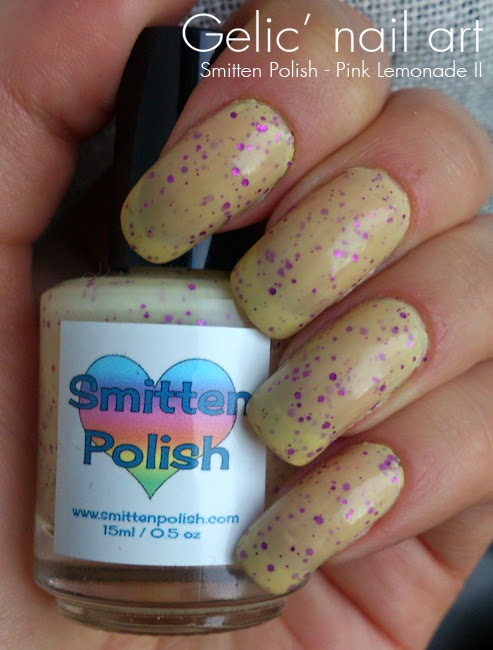 Gelic\' nail art: Smitten Polish - Pink Lemonade II, swatch