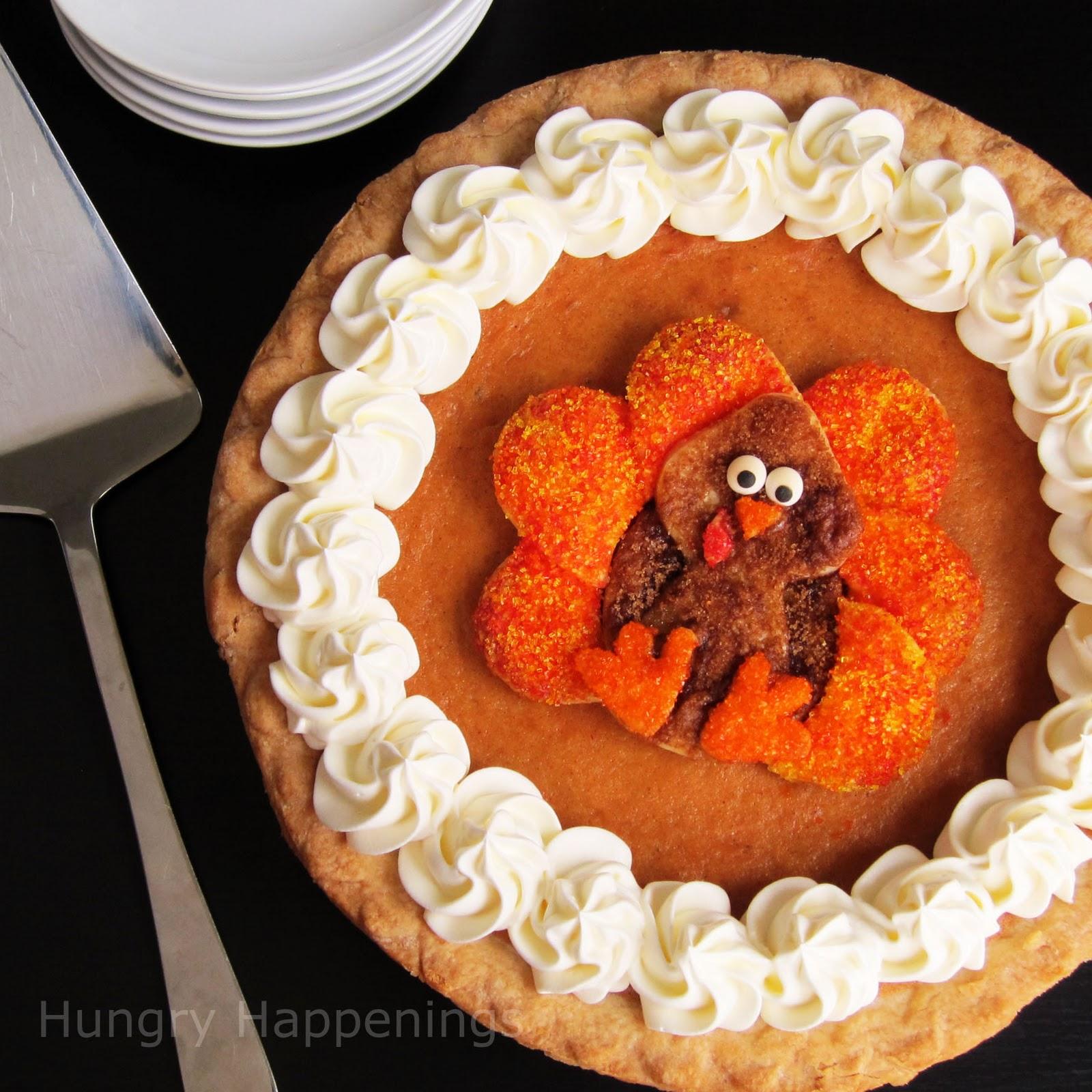 Decorated Pumpkin Pie - Festive Thanksgiving Dessert