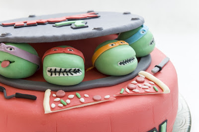 Ninja želve torta - Teenage mutant ninja turtles cake TMNT