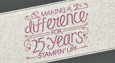 Stampin' Up 25 Year Anniversary Logo