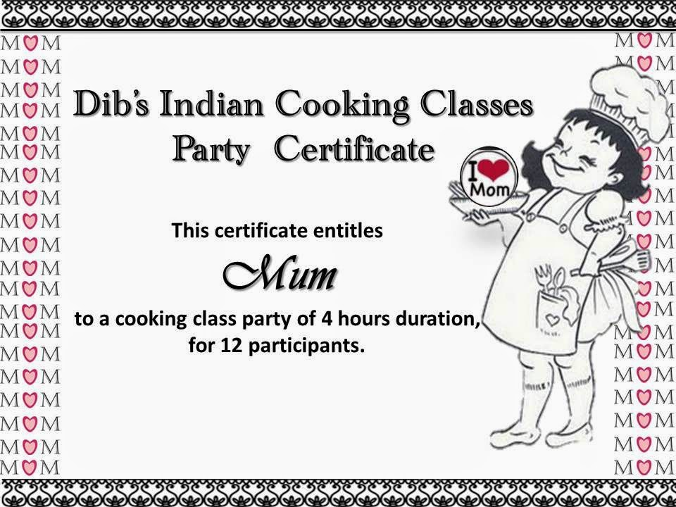 Dib\'s Indian Cooking Classes: Party Time