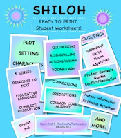 photo of Shiloh Student Worksheets PDF Ruth S. TeacherspayTeachers
