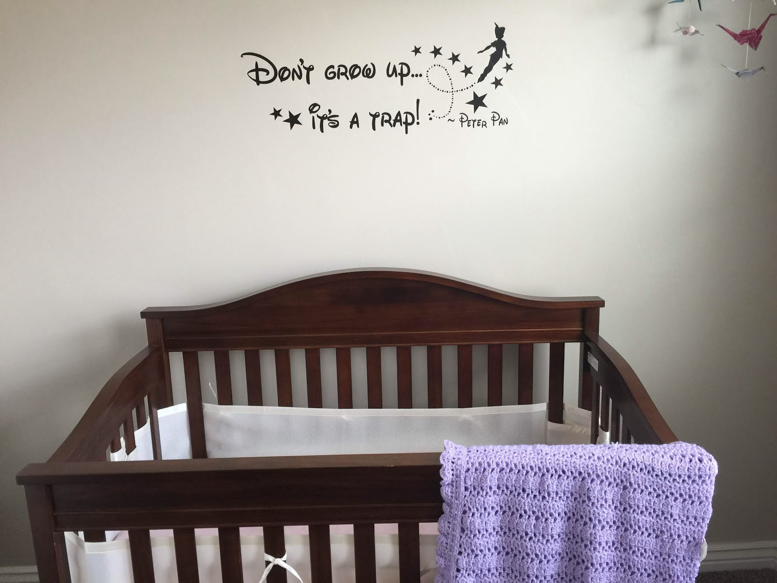 Nursery Peter Pan vinyl so cute and easy!