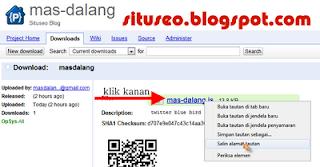 Upload javascript pada google code