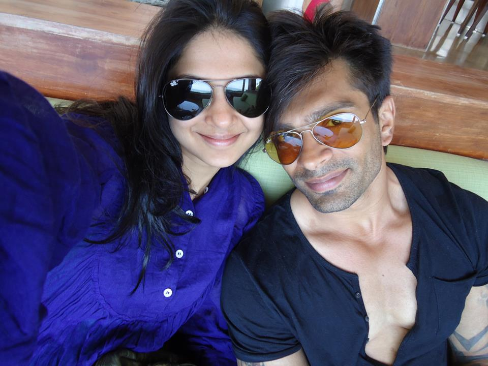 actor karan singh grover with wife actress jennifer winget actor karan