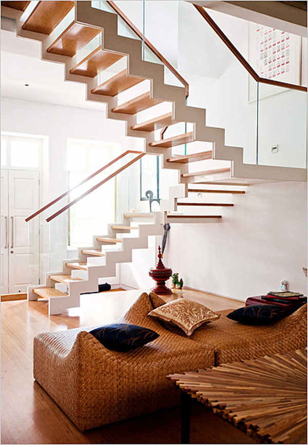 best home design creating unique stairs. Black Bedroom Furniture Sets. Home Design Ideas