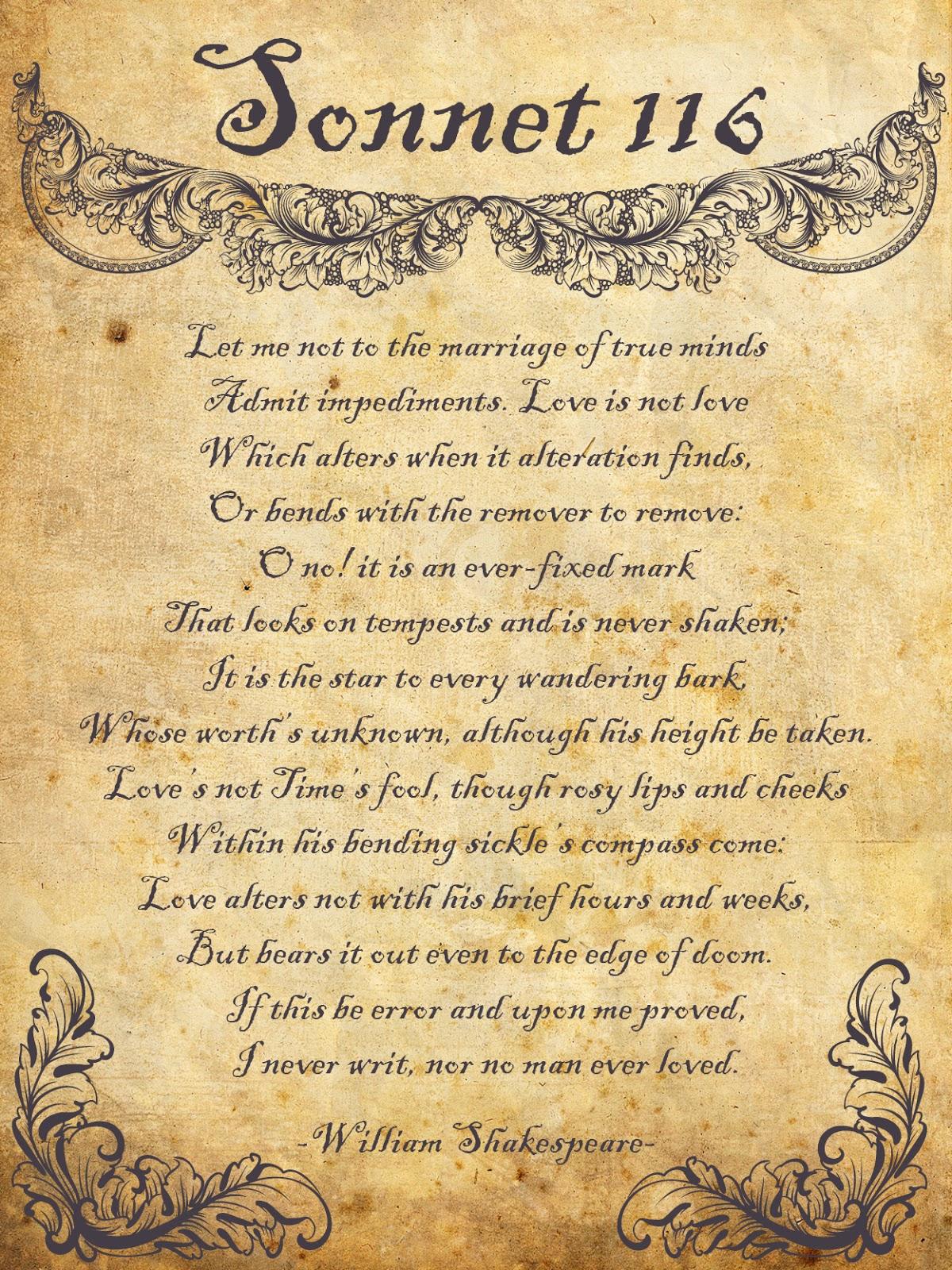 sonnet 116 form