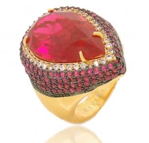 anel pedra cristal