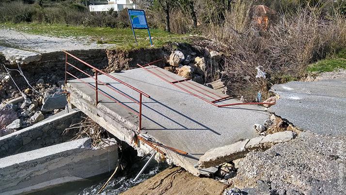Розвалений міст на Буляриці