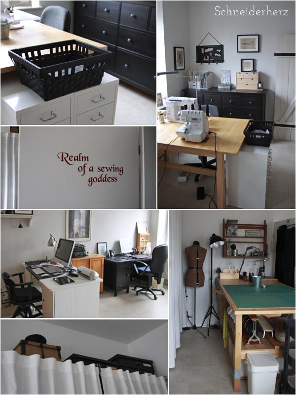 Nähzimmer Sewingroom Schneiderherz Ikea Zuschneidetisch
