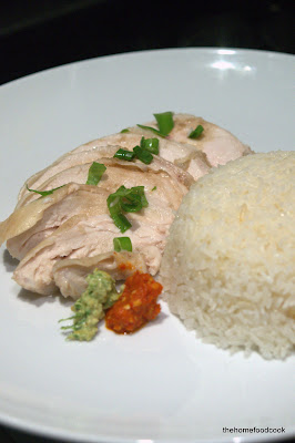 thehomefoodcook - hainanese chicken rice - served