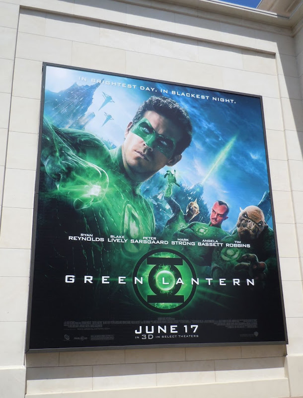 Green Lantern film billboard