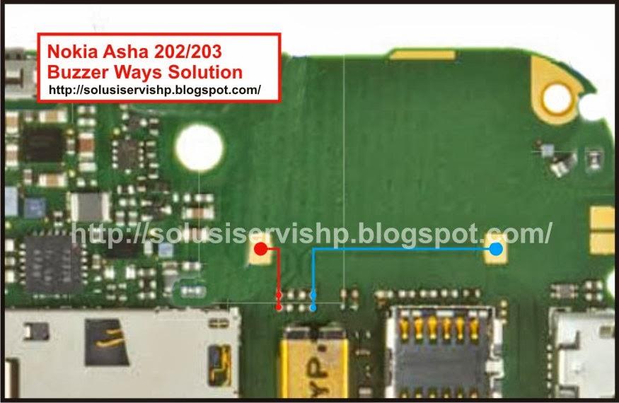 Nokia Asha 202 - 203 Solusi buzzer