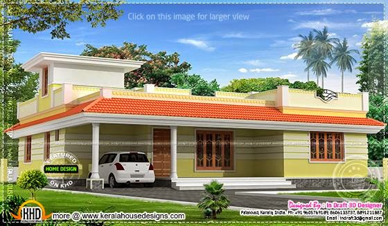 Kerala model single floor home