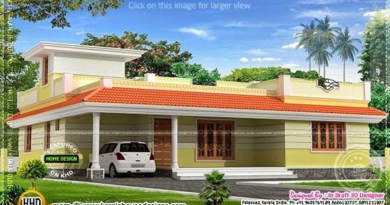 1858 Sq Feet Kerala Model Single Floor Home Home Kerala
