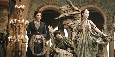 Lysa y Catelyn Tully junto a Robert Arryn