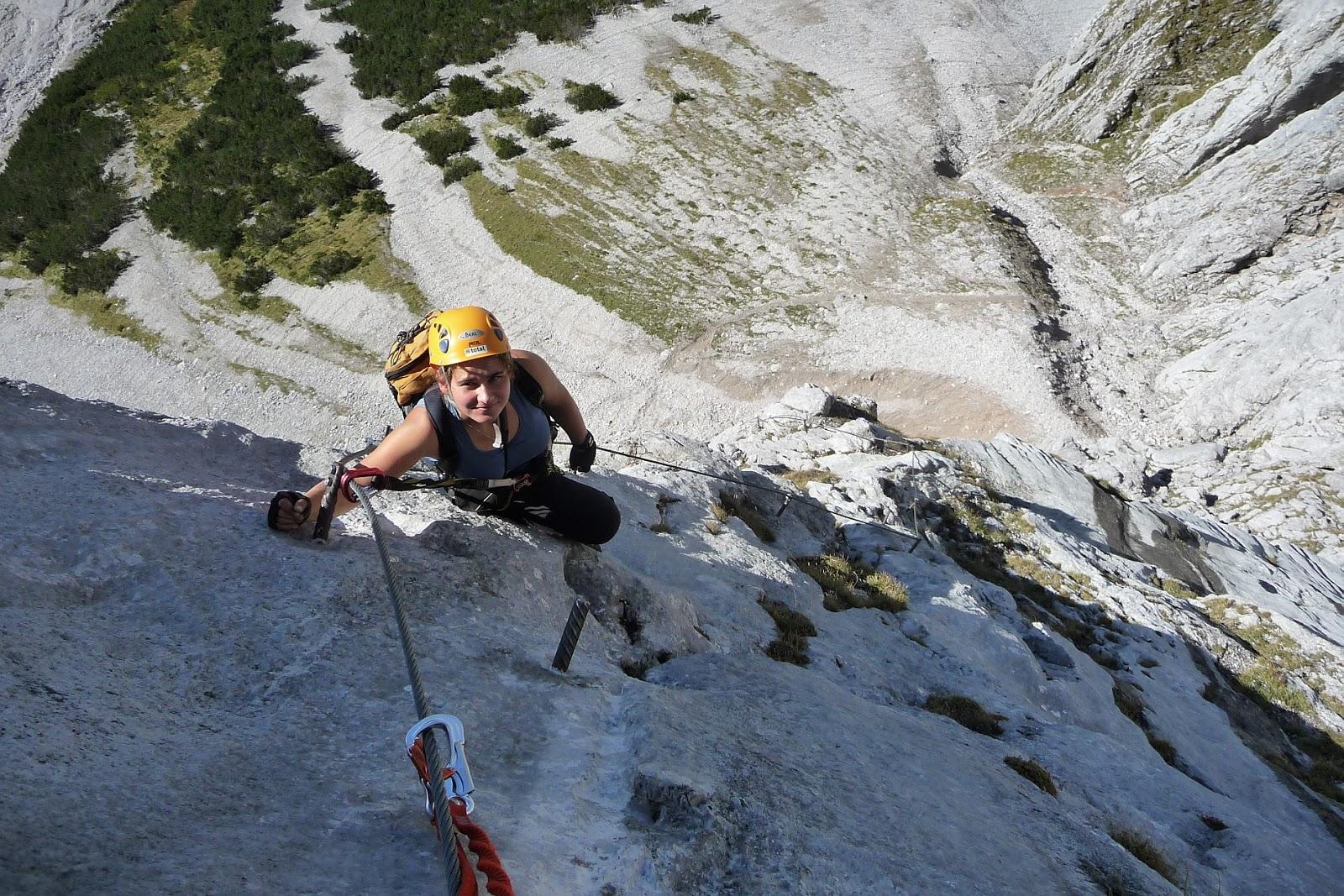 Klettersteig Johann Dachstein : Klettersteig johann: beschreibung anna.