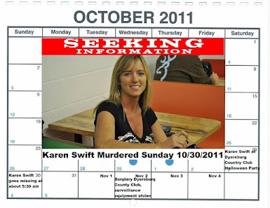 SARASOTA PRIVATE INVESTIGATOR BILL WARNER ON THE JOB ON MURDER OF KAREN SWIFT DYERSBURG