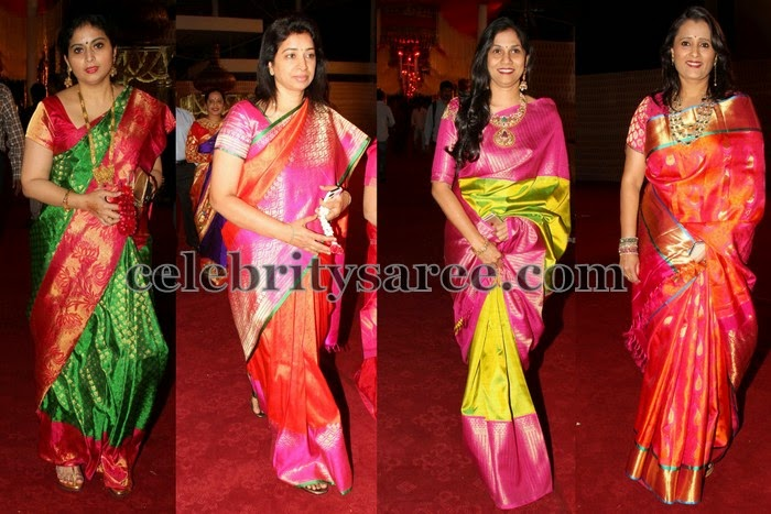 Hyderabad Socialites in Traditional Saris