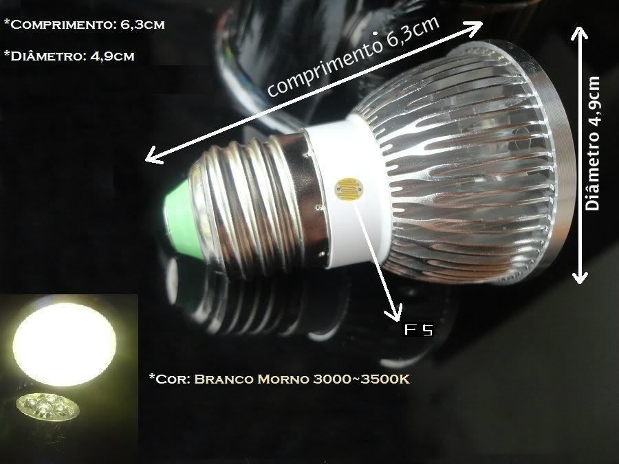 Lâmpada Led 12v13w Com Fotocélula  Para Painel Solar