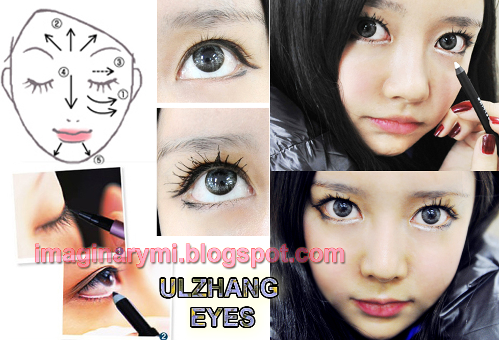 natural Make Ulzzang Imaginary korean Friend: look for ♥Tutorial Eyes  Up ♥ makeup