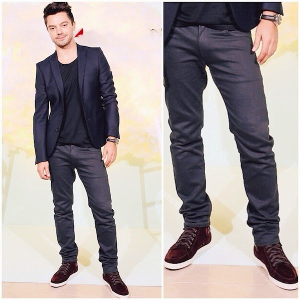 Dominic Cooper at Harrods Shoe Heaven Launch Party September 2014
