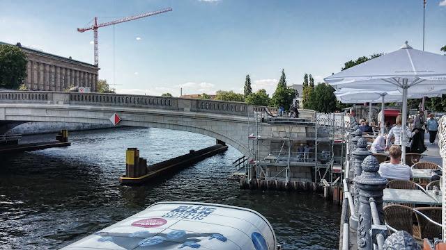 Baustelle Museumsinsel, Friedrichsbrücke, Brückensanierung, Bodestraße, 10178 Berlin, 28.04.2014