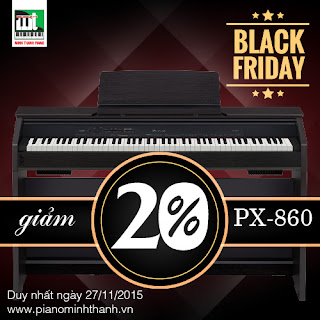 black friday giam gia dan piano dien casio px860