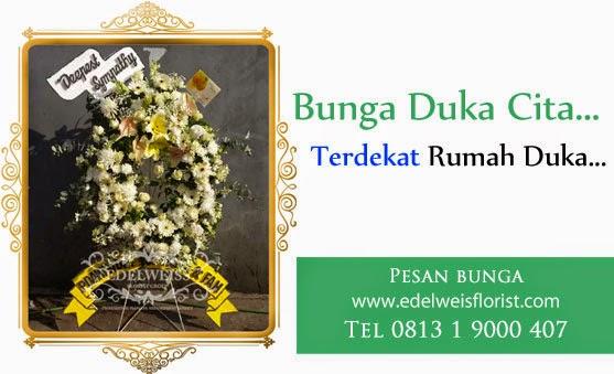 karangan bunga duka cita, toko bunga dekat rumah duka carolus, bunga papan untuk orang meninggal