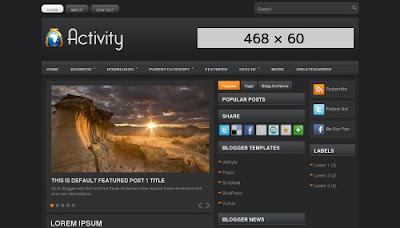 Activity Blogger Template