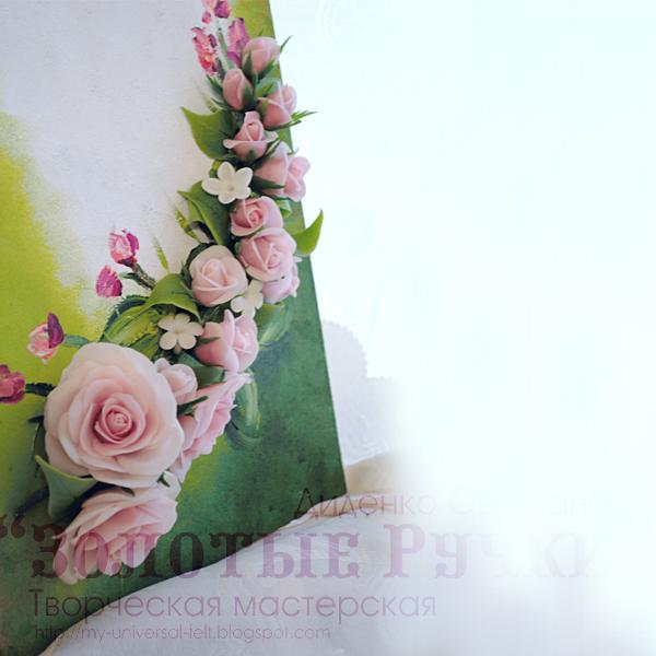 Интерьерные панно с цветами из холодного фарфора