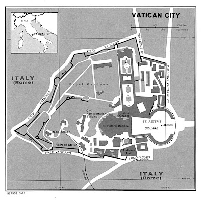 Cartina Politica della Vaticano