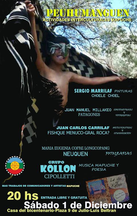 Afiche callejero de la actividad en Luis Beltran