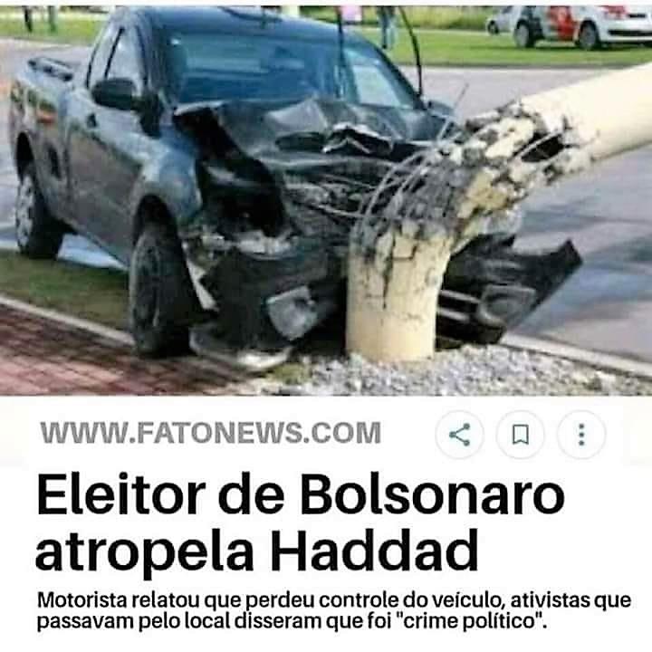 Eleitor de Bolsonaro atropela Haddad