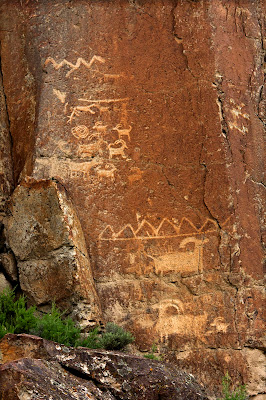 Petroglyphs at Fremont Indian State Park, Utah