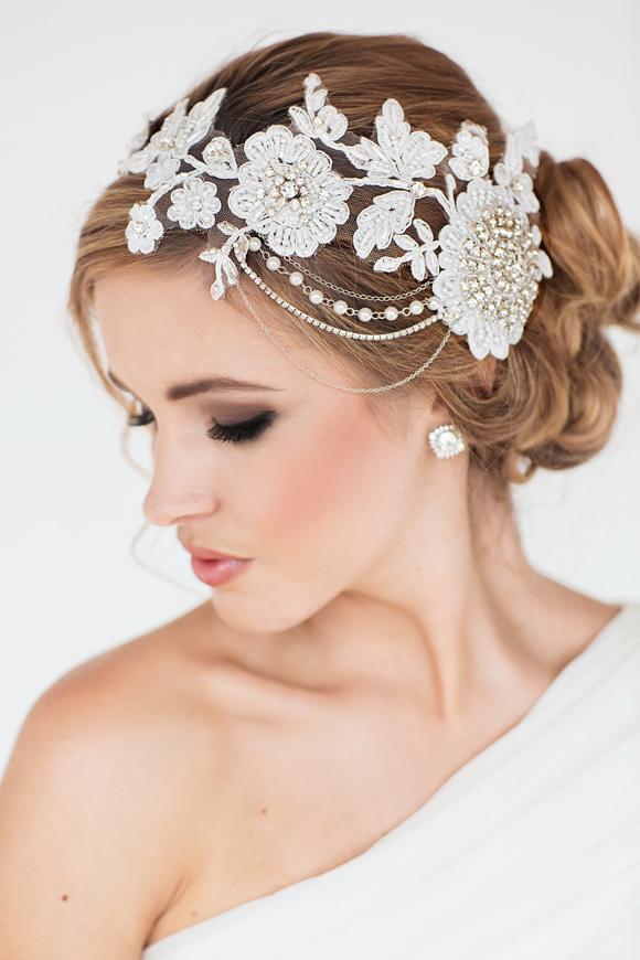 Gabrielle Bridal Headpiece - www.perlejewellerymakeup.com.au