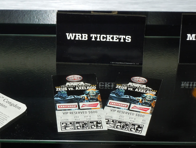 WRB tickets Real Steel props