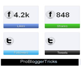 Jquery Social sharing count Widget for blogger