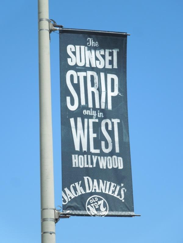 Sunset Strip Jack Daniel's lamppost banner ad