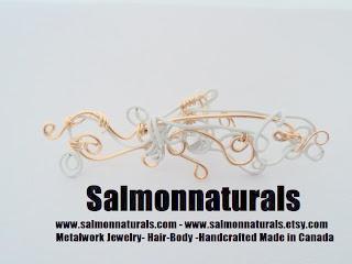 Salmonnaturals Ear cuffs