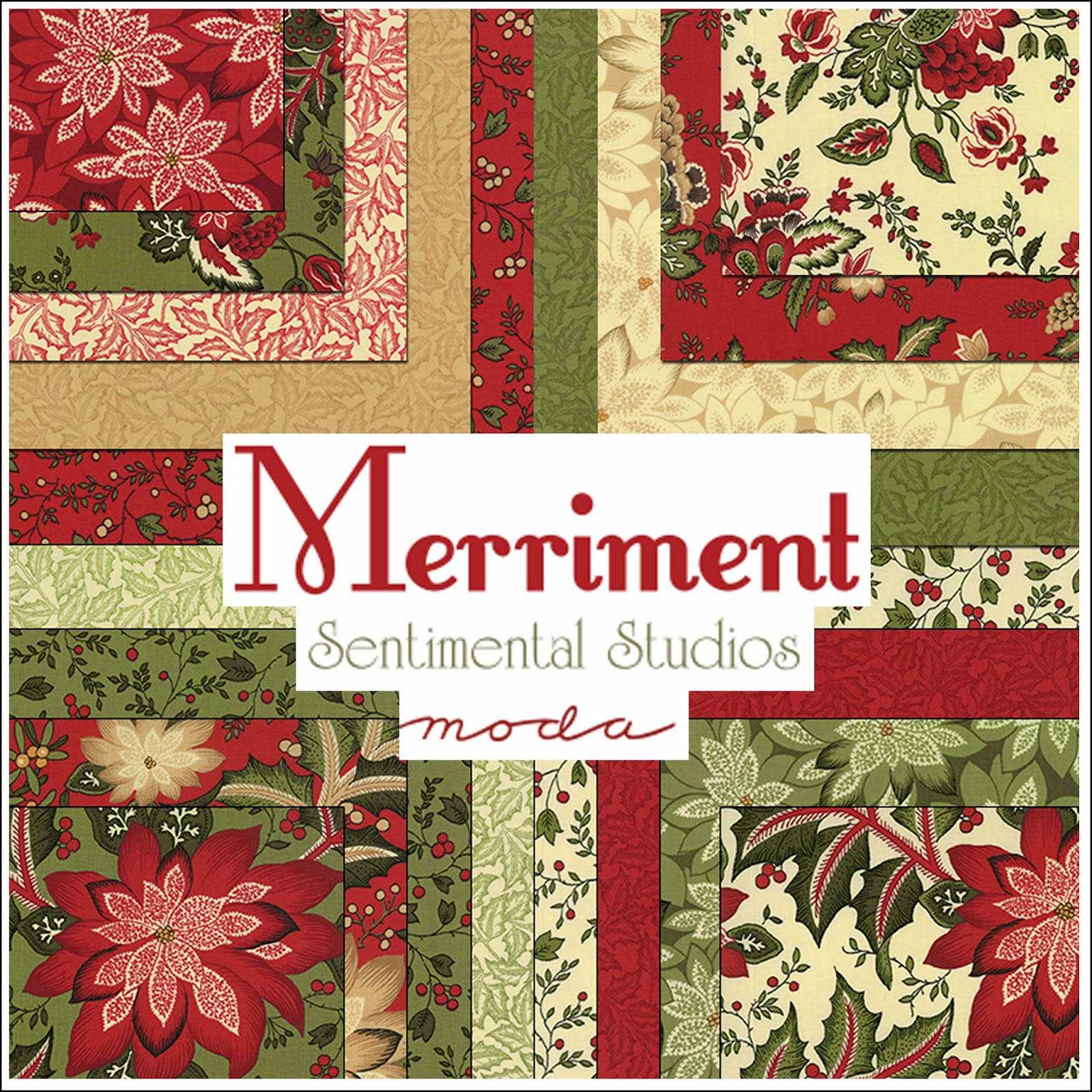 Moda MERRIMENT Christmas Quilt Fabric by Sentimental Studios for Moda Fabrics