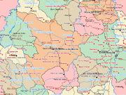 12Mapa de Localidades, Rodovias e Rios de Santo Antônio do MonteMG (samonte mapa )