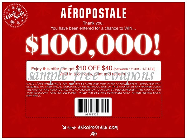 Aeropostale coupons february 2014 aeropostale coupons march 2014