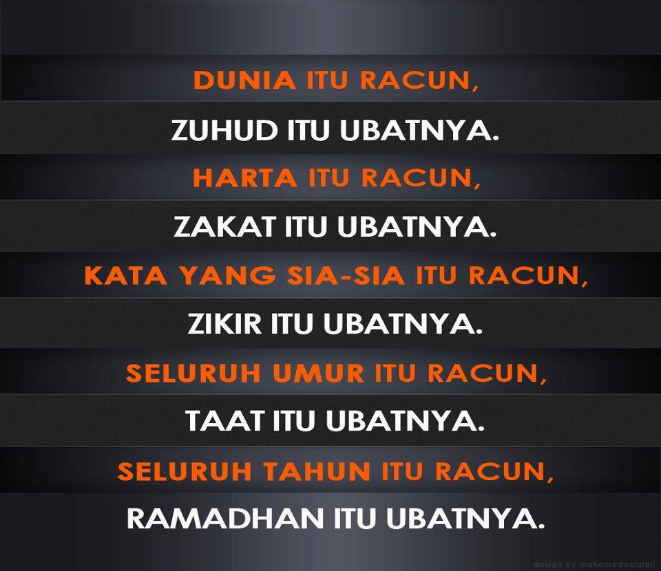zuhud, harta, racun, zikir, kata, ramadhan, umur , taat