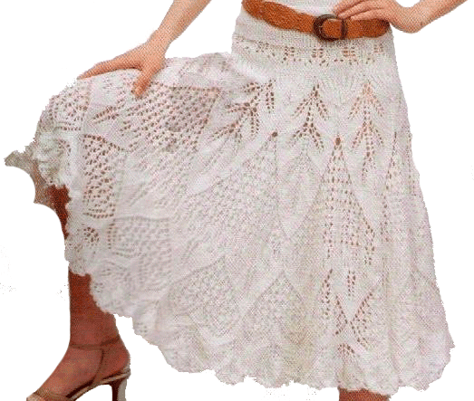 Белая юбка-пончо